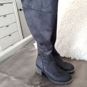 🎀 SO Over The Knee Tall Black Boots 10